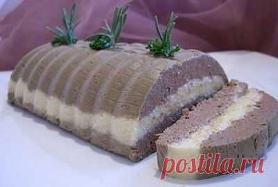 Нежнейший печёночный паштет с сыром..