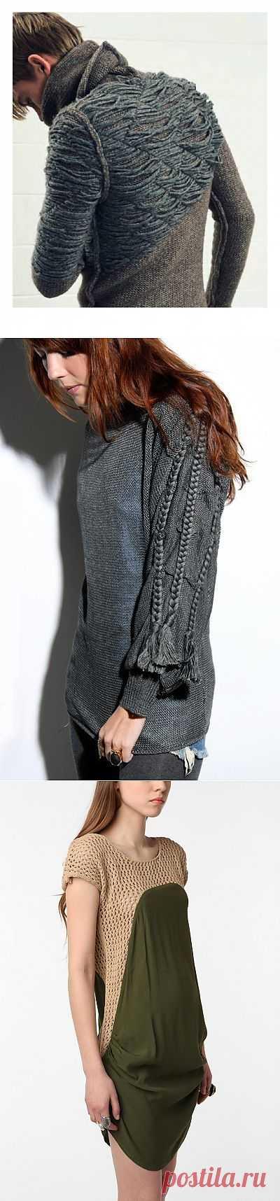 Оригинальный свитер + 2 / Вязание / Модный сайт о стильной переделке одежды и интерьера