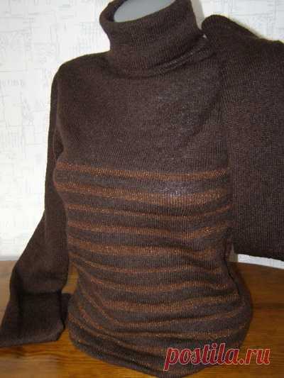 пуловер из тонкого мохера простая схема вязания кофточки на машине