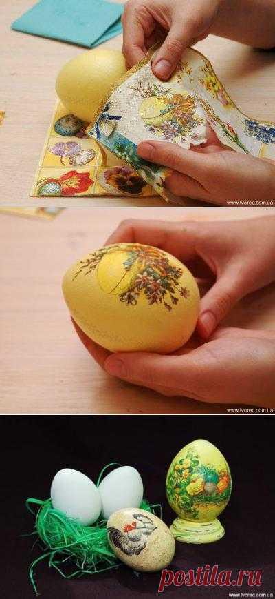 Мастер-класс по декупажу пасхальных яиц. Интересный и простой способ превратить яйцо в творение искусства.