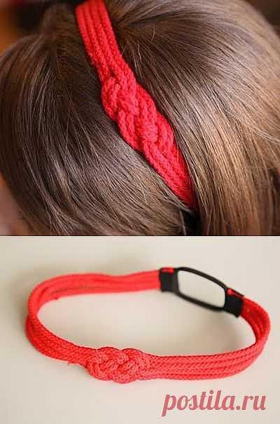 Морской узел на голову (мастер-класс) / Украшения для волос / Модный сайт о стильной переделке одежды и интерьера