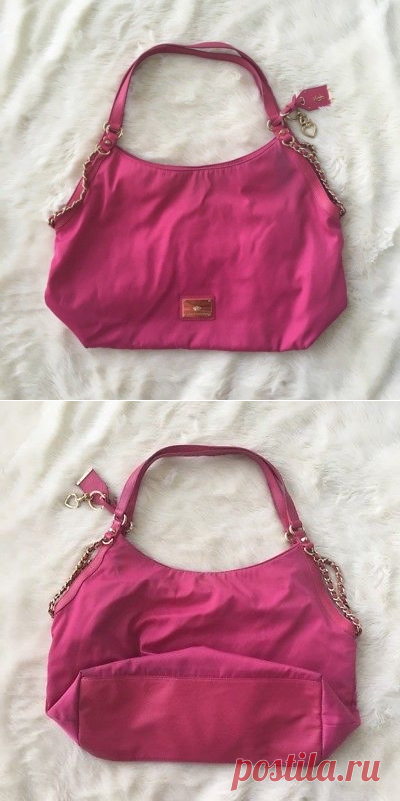 juicy couture pink nylon chain satchel bag | eBay