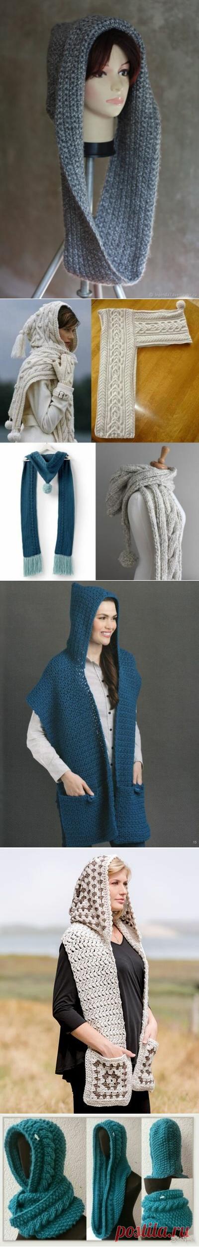 18 необыкновенных вязаных шарфов-капюшонов | Только handmade | Яндекс Дзен