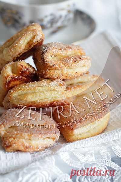 Творожное слоеное печенье-домашние рецепты с фото