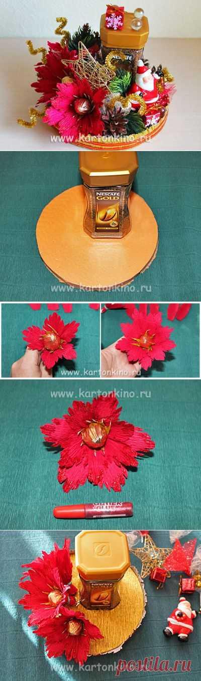Новогоднее оформление кофе в технике свит-дизайн | КАРТОНКИНО.ru