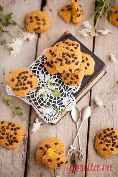 Тыквенное печенье с шококаплями. - в поисках ВКУСОВЫХ ощущений...... — LiveJournal
