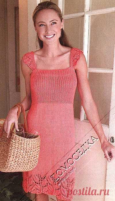 Платье спицами | ДОМОСЕДКА