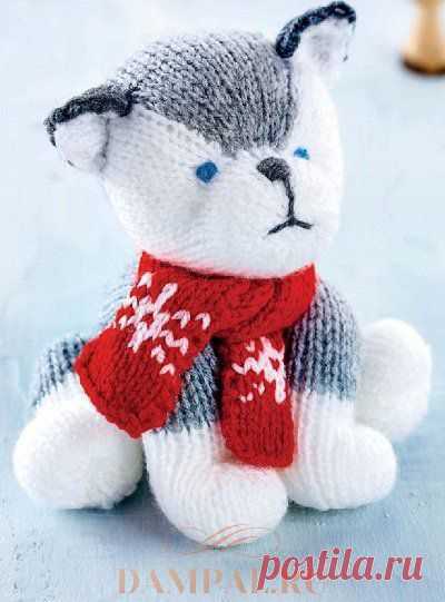 вязание спицами игрушки вязаная собака хаски Lvicaa вязание