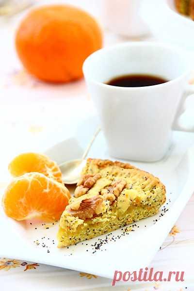 El pastel de naranja.