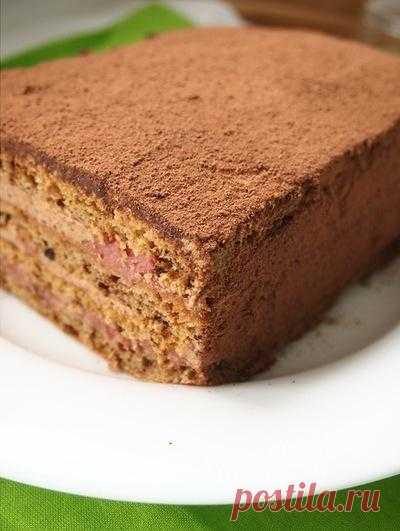 Кофейный торт с 2 видами крема.