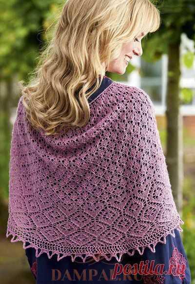 Openwork shawl of \