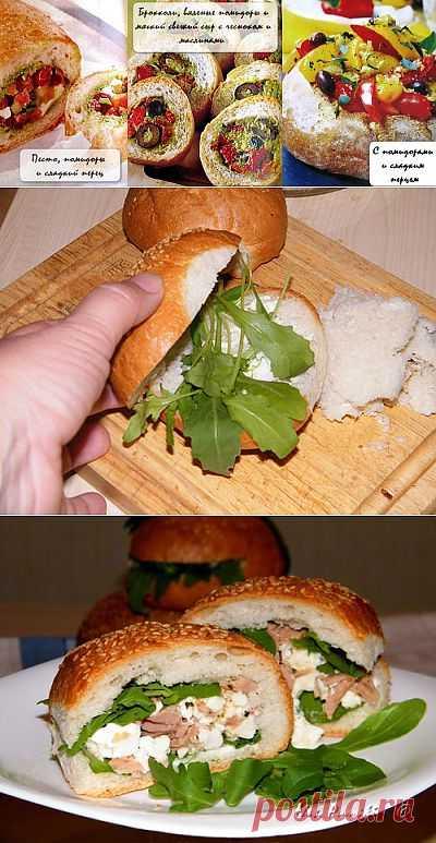 Пикник по-итальянски: фаршированный хлеб!.