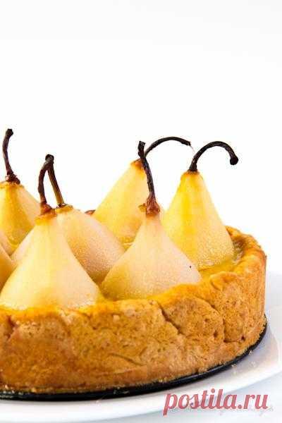 В желтом цвете: Грушевый пирог с заварным кремом