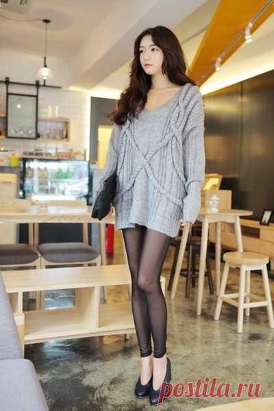 Необычные косы на свитере Модная одежда и дизайн интерьера своими руками