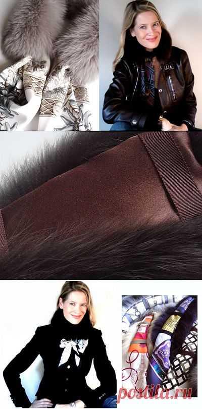 Меховой воротник + платок = трансформер / Воротнички / Модный сайт о стильной переделке одежды и интерьера