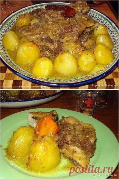 Говяжья грудинка с картофелем и сладкими перцами Вкусные, сытные блюда из восточной кухни. Готовим, коментируем.