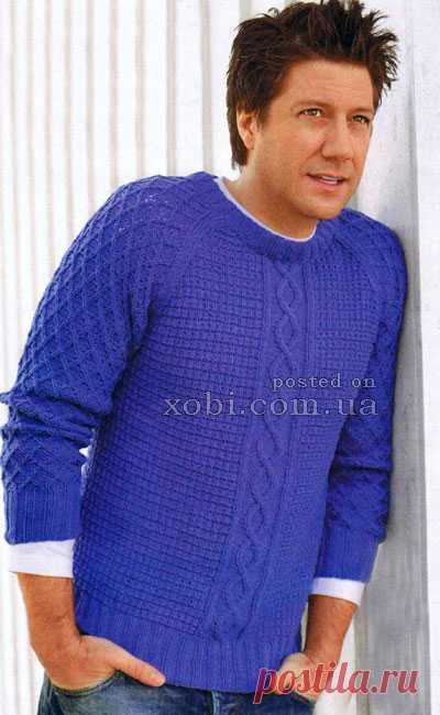 рельефный пуловер реглан
