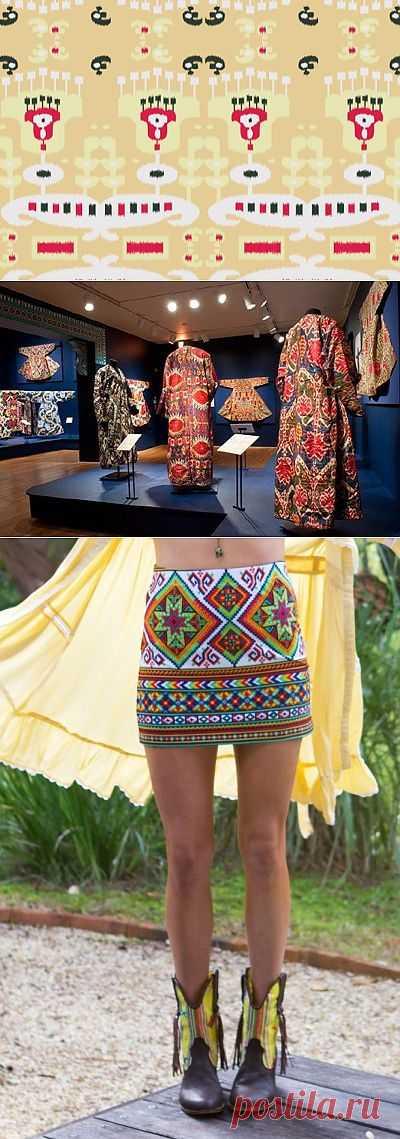 Икат. Дыхание Азии (трафик) / Тенденции / Модный сайт о стильной переделке одежды и интерьера