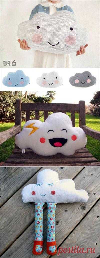 Идея дизайна подушки для детей в форме облака!