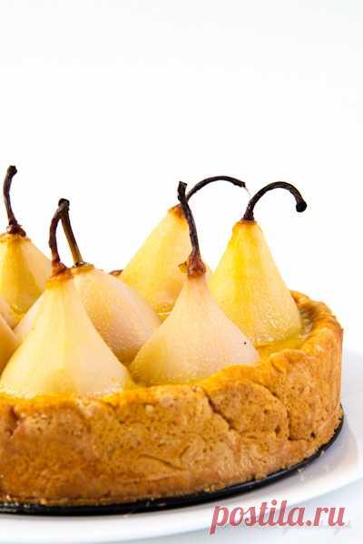 Грушевый пирог с заварным кремом. (Рецепт по клику на картинку).