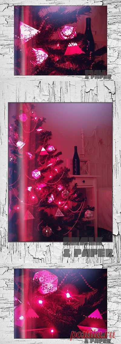 Геометрические украшения для елки из...бумаги! / Новогодний интерьер / Модный сайт о стильной переделке одежды и интерьера
