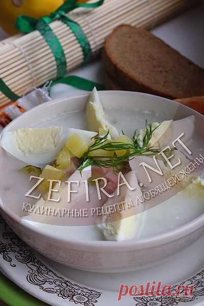 Холодный суп из щавеля-домашние рецепты с фото