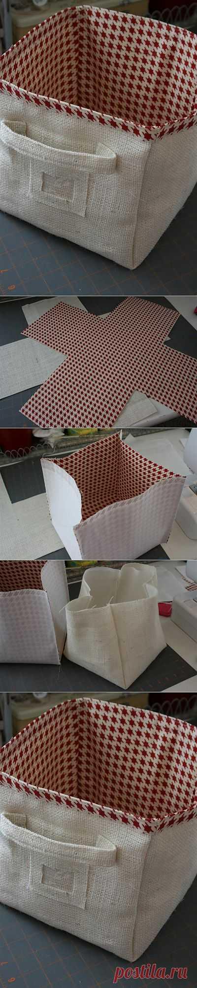 (+1) - Корзина из ткани   СВОИМИ РУКАМИ