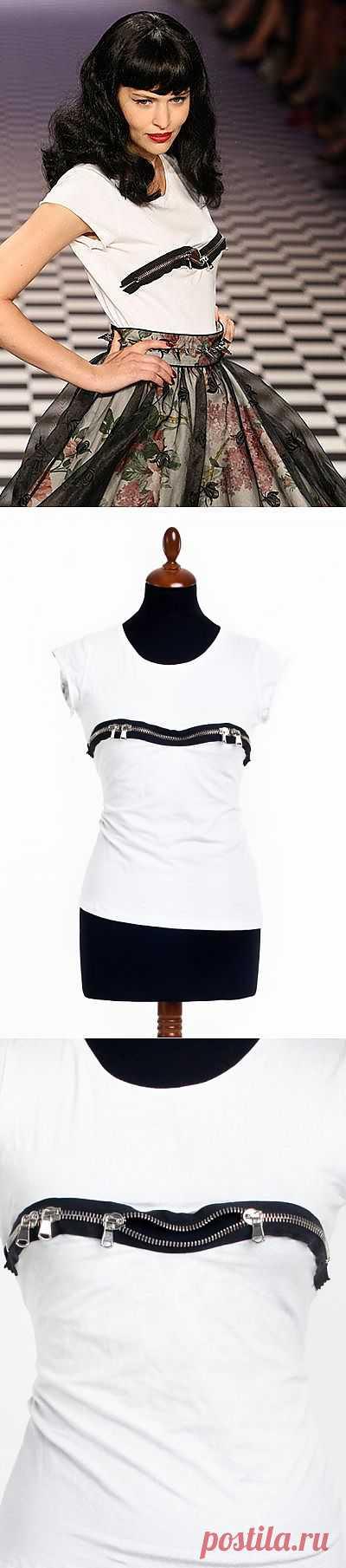 Футболка на молнии / Футболки DIY / Модный сайт о стильной переделке одежды и интерьера
