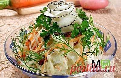 Салат «Русский» - кулинарный рецепт. Миллион Меню