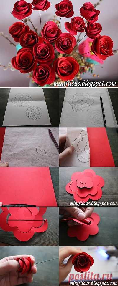 Сделай сам: бумажные розы.