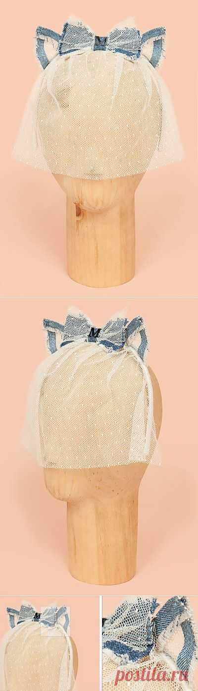 Фата с джинсовыми ушками Maison Michel / Креатив / Модный сайт о стильной переделке одежды и интерьера