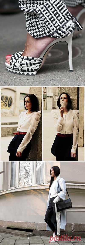 B&W Sreet. Часть 1 (подборка) / Street Style / Модный сайт о стильной переделке одежды и интерьера