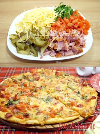 Италия.Тонкая пицца, пошаговый рецепт с фото на Kedem.ru