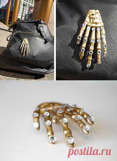 Скелетоброшь DIY / Аксессуары (не украшения) / Модный сайт о стильной переделке одежды и интерьера