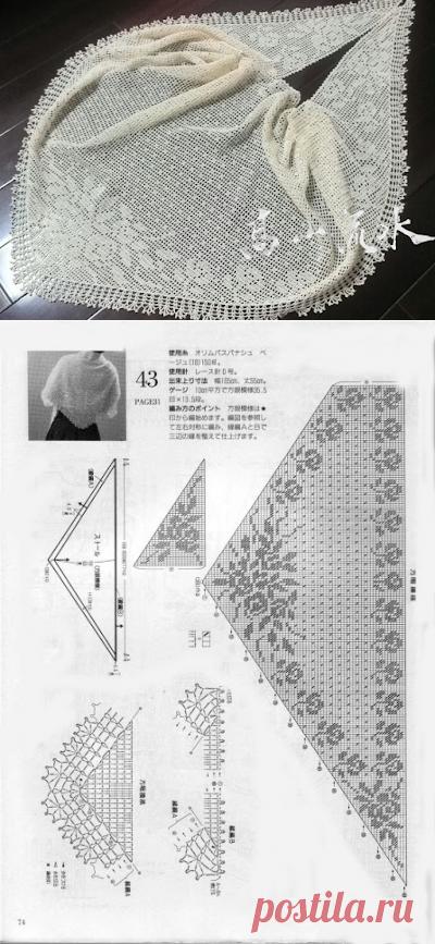 Вязание крючком рукоделие: вязание крючком платок с розами