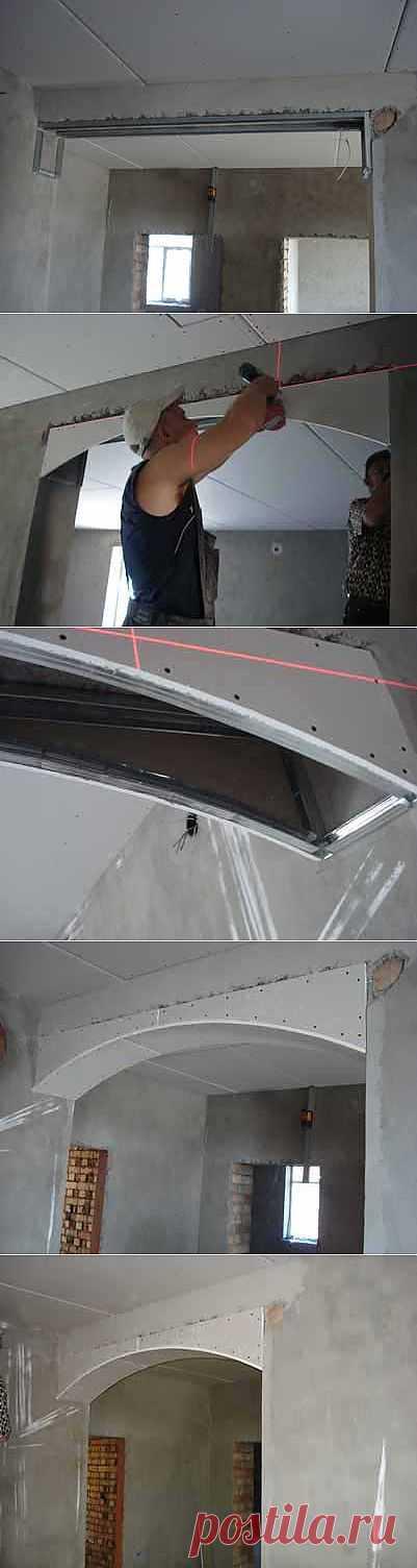 Arch from gypsum cardboard 2.