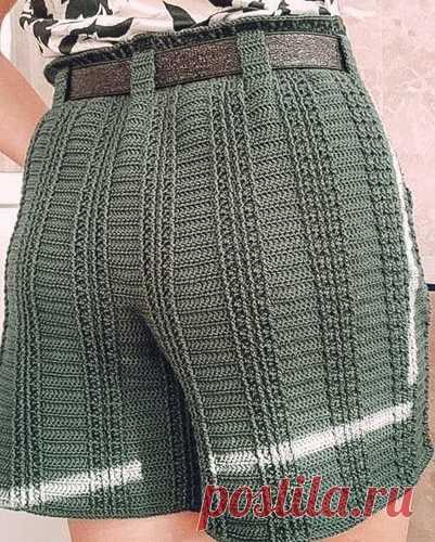 Шорты Схема-выкройка вязания крючком шорт