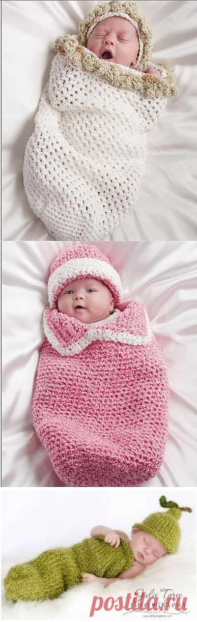 Вязаный домик для новорожденного.