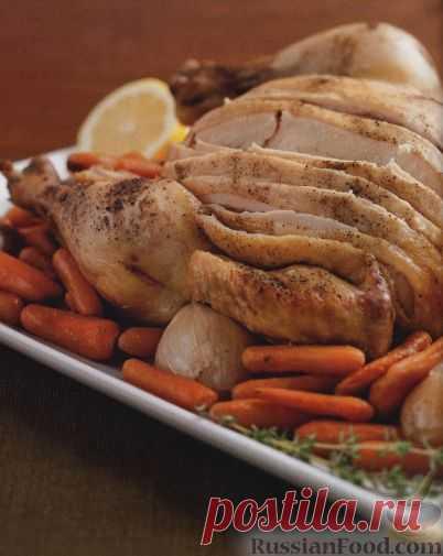 Рецепт: Курица, приготовленная в медленноварке с овощами на RussianFood.com
