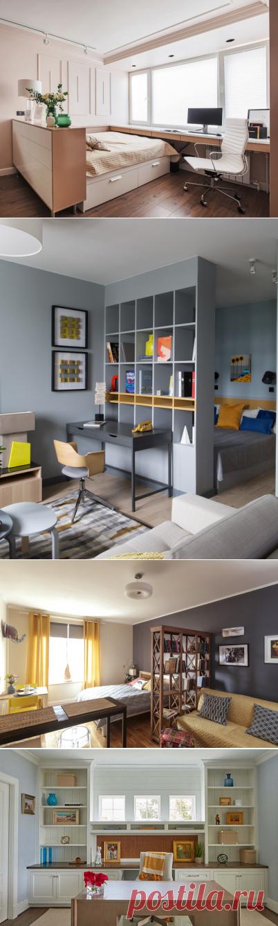 Как совместить гостиную и спальню: 39 идей, как разграничить комнату на спальню и гостиную   Houzz Россия
