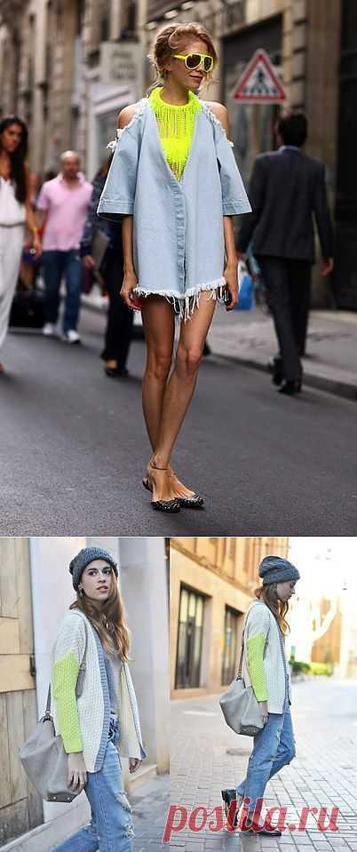 2 неоновые детали / Street Style / Модный сайт о стильной переделке одежды и интерьера