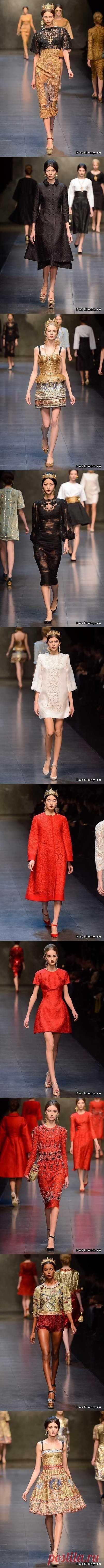 Божественная коллекция от Dolce&Gabbana,только для королевских особ