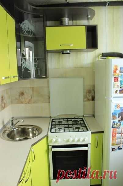 Repair and design of small angular kitchen of 5 sq.m. (29 photos)