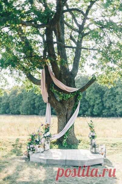 🌸 Рустикальная свадьба с церемонией в поле 🌸