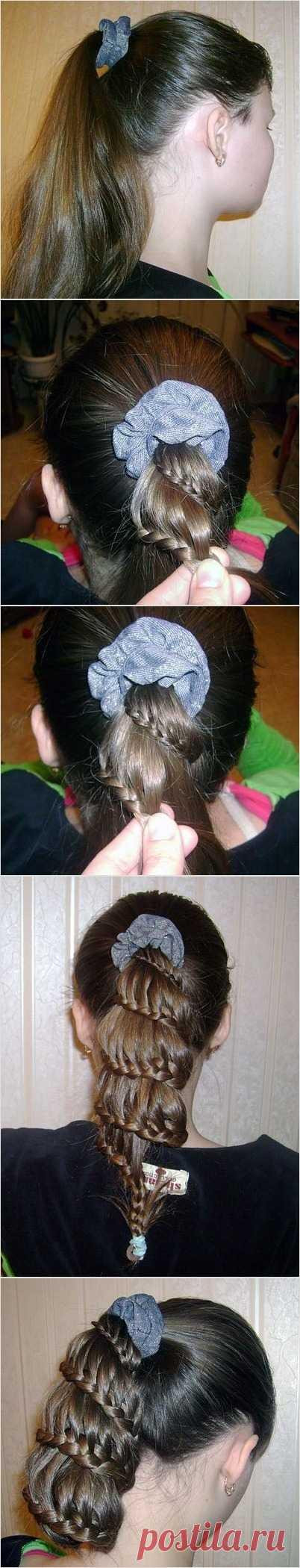 """Прическа """"Воздушная коса"""""""