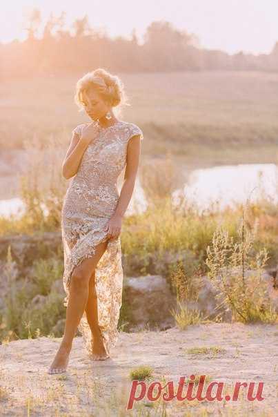 Волшебная съемка в персиковых лучах заходящего солнца... Фото: Мария Казанцева