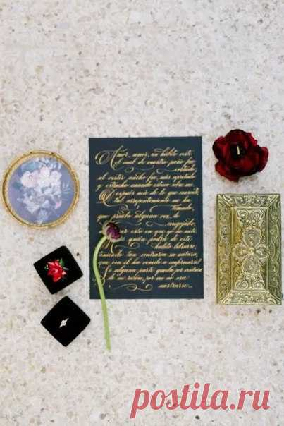 Изысканная каллиграфия - идеальный выбор для элегантной классической свадьбы ✒