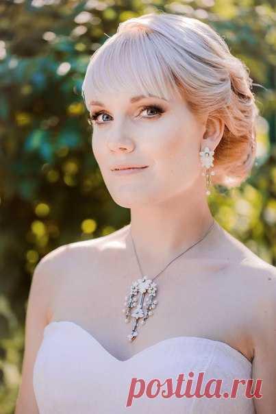 Когда украшение невесты создано с любовью! 🌸Аксессуары от Полины Рыковой