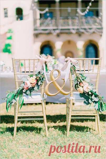 \ud83c\udf3f Top-8 of ideas for a decor of chairs of newlyweds \ud83c\udf3f