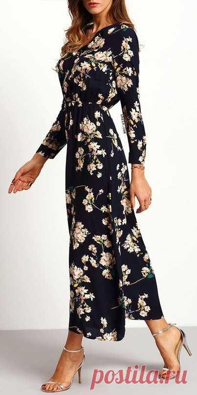 Los vestidos en el suelo con de flores printom. — Es a la moda \/ Nemodno